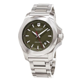 Swiss Army Men's 241725.1 'Inox' Green Dial Stainless Steel Bracelet Swiss Quartz Watch