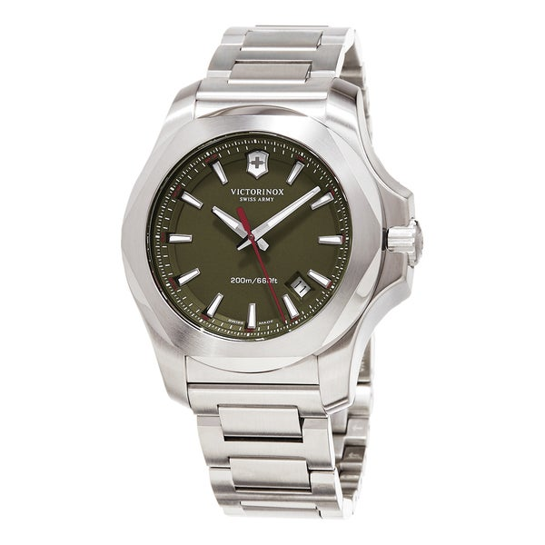 c777423c90d Shop Swiss Army Men s  Inox  Green Dial Stainless Steel Bracelet Swiss Quartz  Watch - Hunter - Free Shipping Today - Overstock - 10873219
