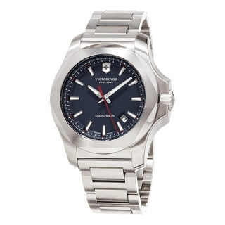 Swiss Army Men's 241724.1 'Inox ' Blue Dial Stainless Steel Bracelet Swiss Quartz Watch