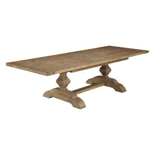 Transitional Solid Ash and Elm Pedestal Dinette Table