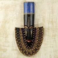 Handcrafted Sese Wood 'Prosperous' Mask (Ghana)