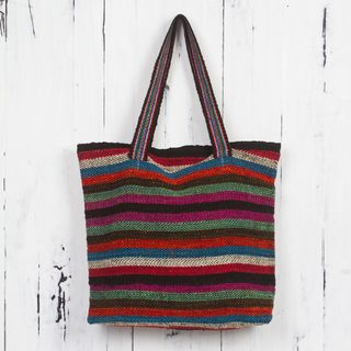 Handcrafted Wool 'Andean Boho' Shoulder Bag (Peru)