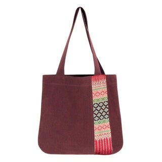Handcrafted Cotton 'Lanna Legacy' Tote Bag (Thailand)