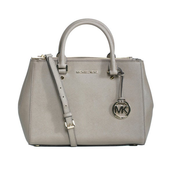 fe411605bb4d Shop Michael Kors Sutton Medium Dark Dune Satchel Handbag - Free ...