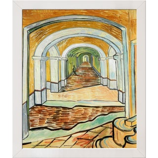 Vincent van Gogh 'Corridor of Saint-Paul Asylum in Saint-Remy' Hand Painted Framed Canvas Art