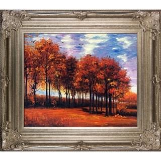 Vincent van Gogh 'Autumn Landscape' Hand Painted Framed Canvas Art