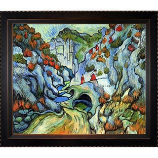 Vincent van Gogh 'The Ravine of the Peroulets' Hand Painted Framed Canvas Art