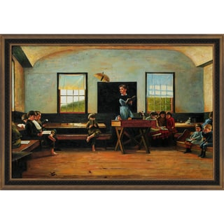 Winslow Homer 'The Country School' Hand Painted Framed Canvas Art
