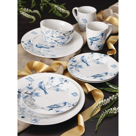 Paula Deen Dinnerware Indigo Blossom 16-Piece Stoneware Dinnerware Set