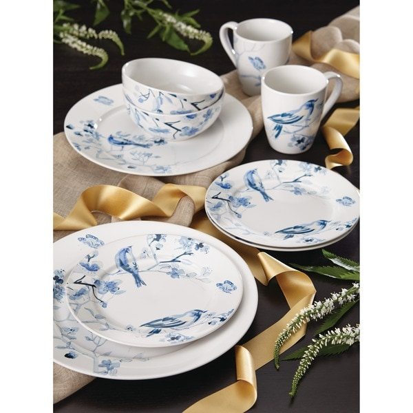 Paula Deen Dinnerware Indigo Blossom 16-Piece Stoneware Dinnerware Set  sc 1 st  Overstock & Paula Deen Dinnerware Indigo Blossom 16-Piece Stoneware Dinnerware ...