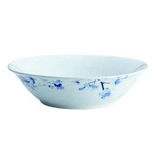 Paula Deen(r) Dinnerware Indigo Blossom 10-Inch Stoneware Round Serving Bowl, Print