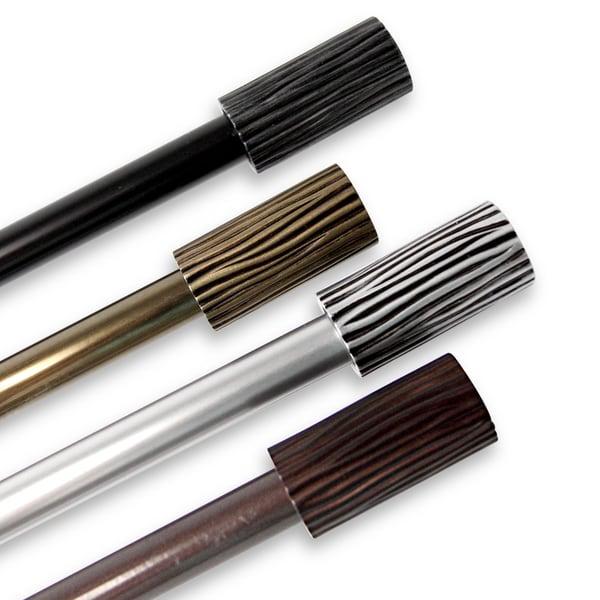 instyledesign elm adjustable black curtain rod free shipping on