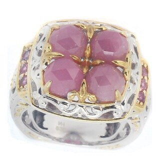 One-of-a-kind Michael Valitutti Rose Cut Pink Sapphire Ring