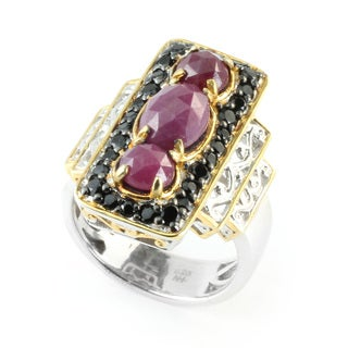 Michael Valitutti Rose Cut Opaque Pink Sapphire & Black Spinel Ring