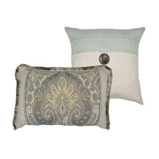 Sherry Kline Oasis Aqua Combo Throw Pillow (set of 2)