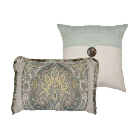 Sherry Kline Oasis Aqua Combo Throw Pillow (set of 2)