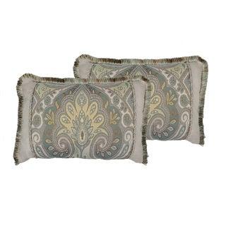 Sherry Kline Oasis Aqua Boudoir Throw Pillow (set of 2)