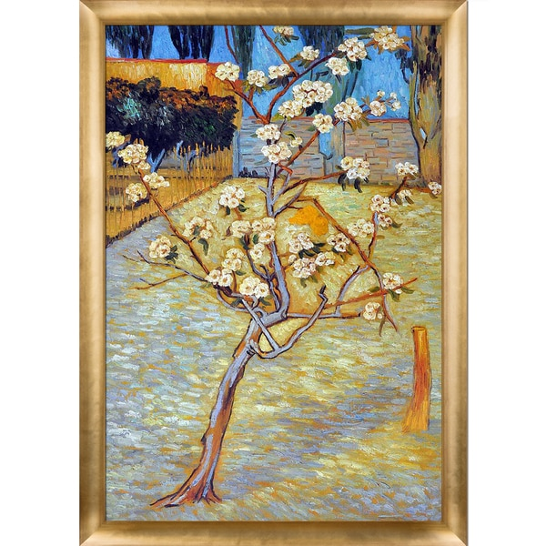 Shop Vincent van Gogh \'Pear Tree in Blossom\' Hand Painted Framed ...