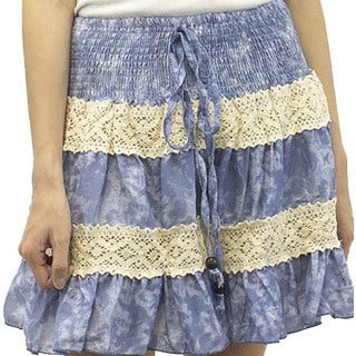 Relished Women's Cirrus Clouded Skies Skirt