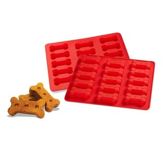 Paw and Bone Silicone Dog Treat Bake Mats (2-Pack)