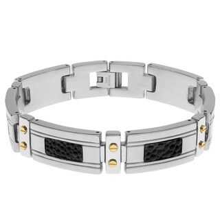 Tri-color Stainless Steel Men's Bracelet