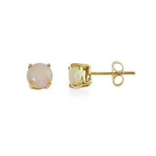 Kabella 14k Gold Opal Solitaire Earrings