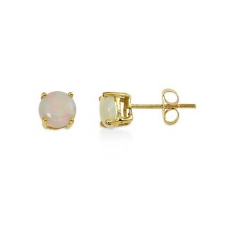 Kabella 14k Gold Opal Solitaire Earrings