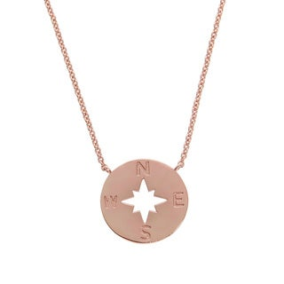 Eternally Haute 14k Goldplated Brass Open Compass Necklace