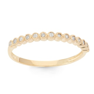 Gioelli 10k Gold 1/6ct TDW Diamond Eternity Stackable Ring