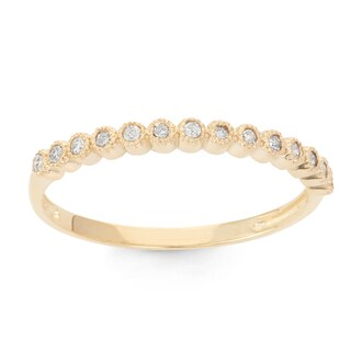 Gioelli 10k Gold 1/6ct TDW Diamond Eternity Stackable Ring