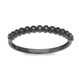 Gioelli 10k Gold 1/6ct TDW Black Diamond Stackable Eternity Ring