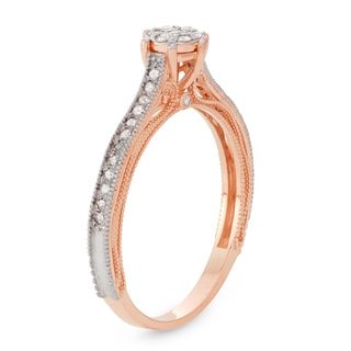 Gioelli 10k Rose Gold 1/4ct TDW Diamond Ring (H-I, I1-I2)