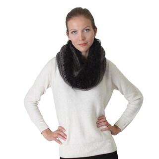 Knit Furry Infinity Scarf