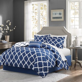 Madison Park Essentials Reversible Cole 9-piece Comforter Set in size Queen (As Is Item)
