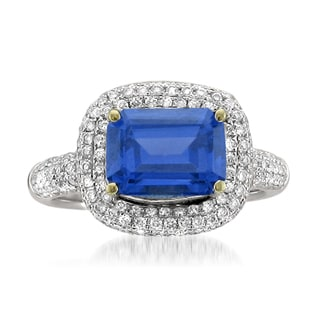 Montebello 18k Gold Tanzanite and Diamond 3 5/8ct TGW Certified One-of-a-Kind Ring (H-I, SI1-SI2)