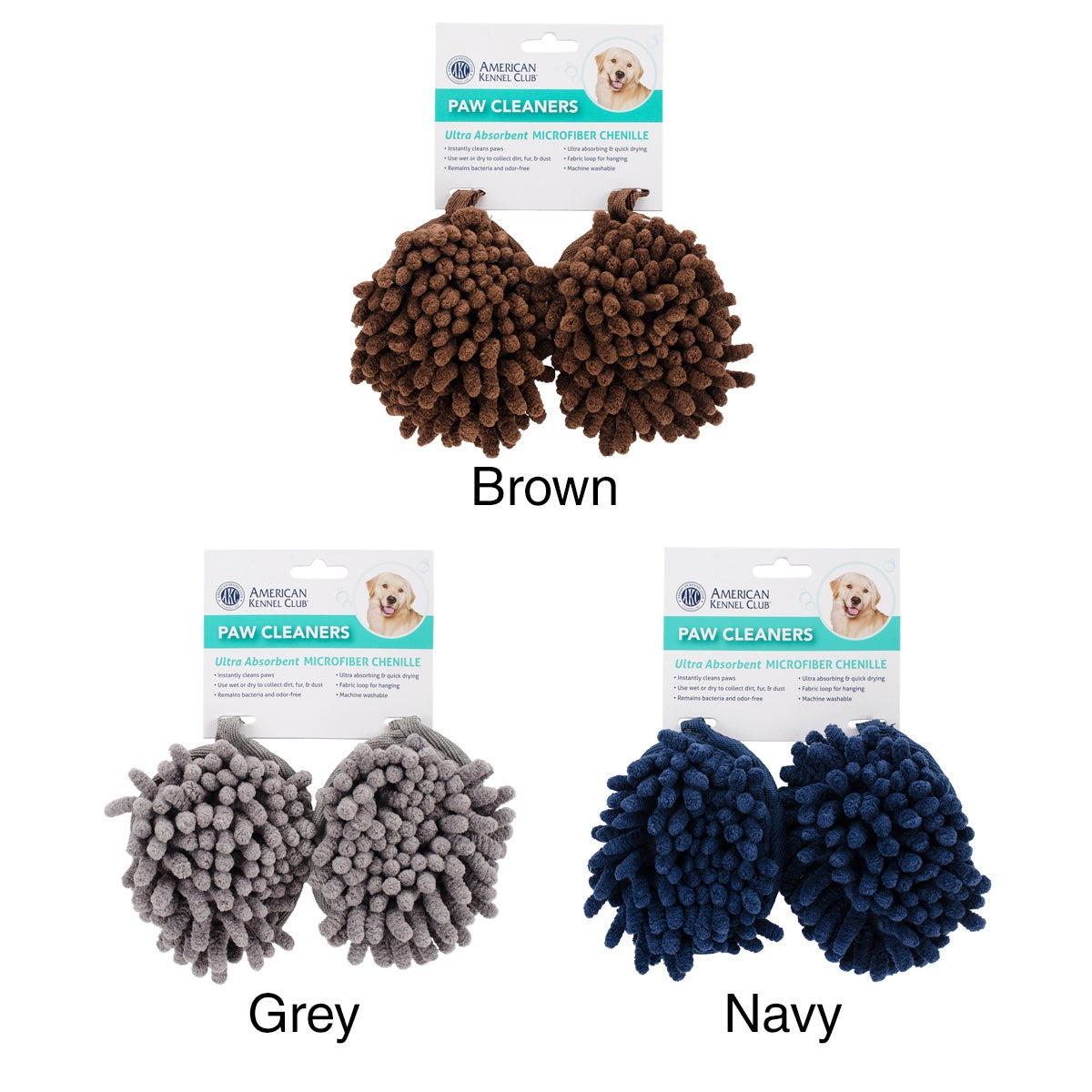 BH Pet Gear Dri-Tail Paw Cleaners 2/Pkg (Brown), Size 2 pack