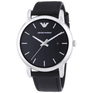 Emporio Armani Men's AR1692 'Classic' Black Leather Watch