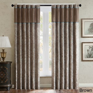 """Madison Park Whitman Curtain Panel Pair 84"""" Brown (As Is Item)"""