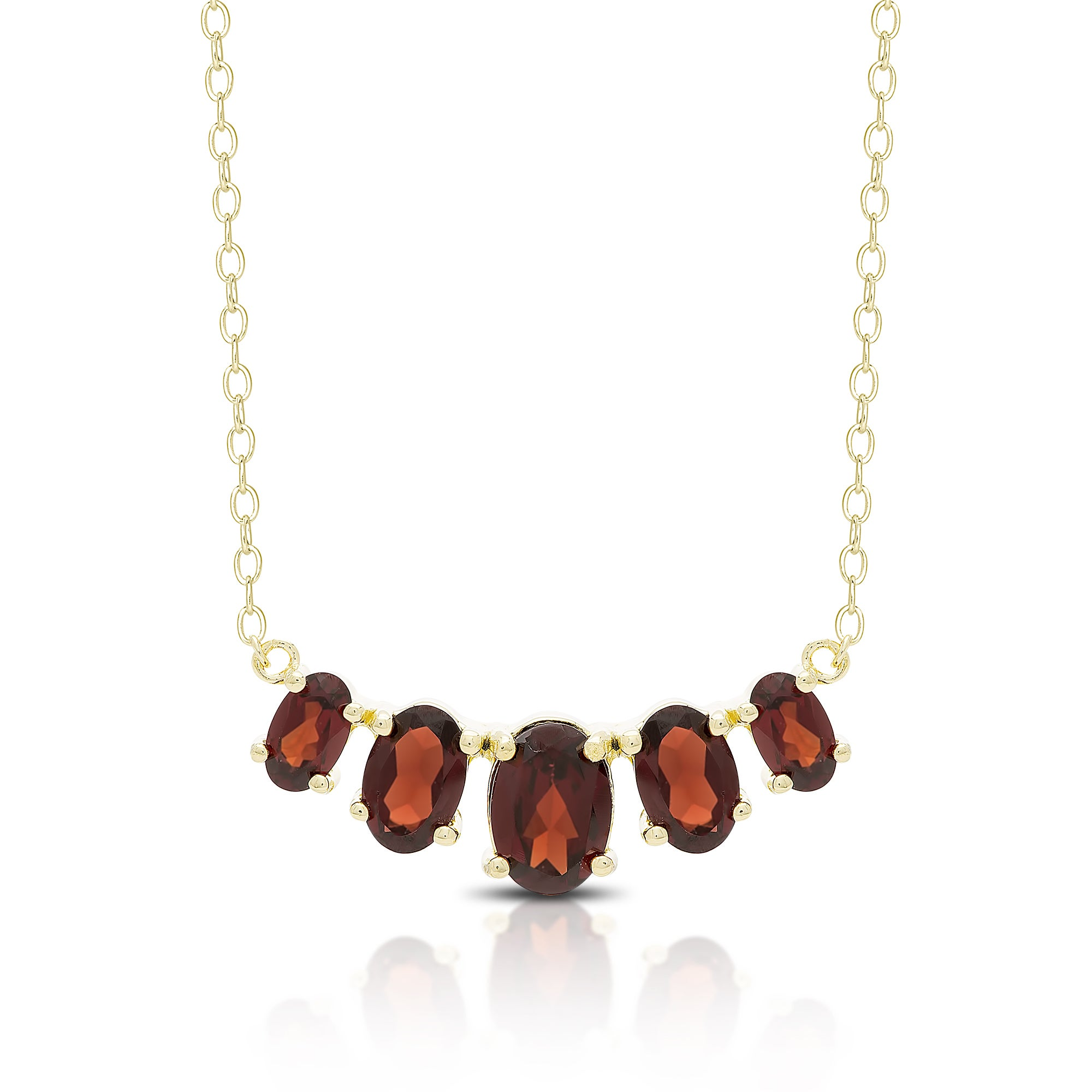 Dolce Giavonna Gold Over Sterling Silver Gemstone Five St...