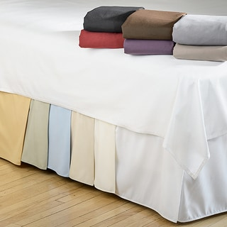 Microfiber Solid 15-inch Drop Queen Size Bedskirt in Ivory (As Is Item)