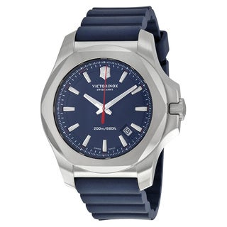 Victorinox Swiss Army 241688.1 Men's I.N.O.X. Blue Rubber Strap Watch
