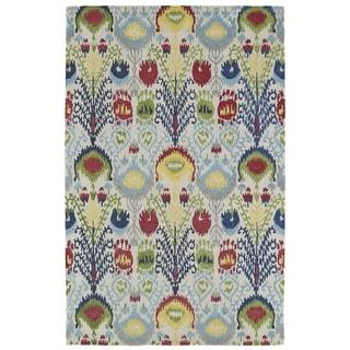 Handmade de Leon Wool Multi Ikat Rug (8'0 x 10'0)