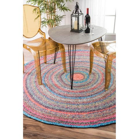 nuLOOM Multi Casual Handmade Braided Cotton Area Rug
