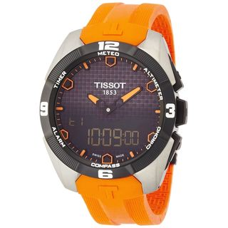 Tissot Men's 'T-Touch Expert' Digital Orange Rubber Watch