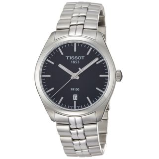 Link to Tissot Men's T1014101105100 'PR 100' Stainless Steel Watch Similar Items in Men's Watches