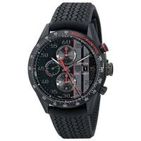 Tag Heuer Men's CAR2A83.FT6033 'Carrera' Automatic Chronograph Black Rubber Watch