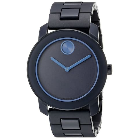 Movado Men's 3600314 'Bold' Black Stainless Steel Watch