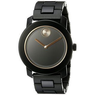 Movado Men's 3600315 'Bold' Black Stainless Steel Watch