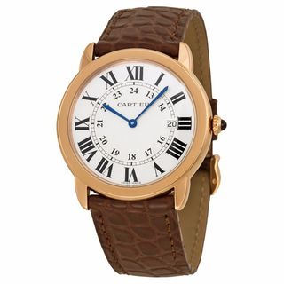 Cartier Men's W6701008 Ronde Solo De Cartier Silver Watch