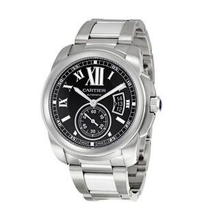 Cartier Men's W7100016 Calibre De Cartier Black Watch